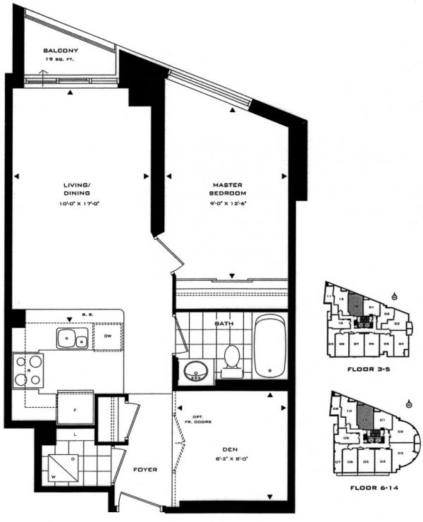 Floor plan of unit 413
