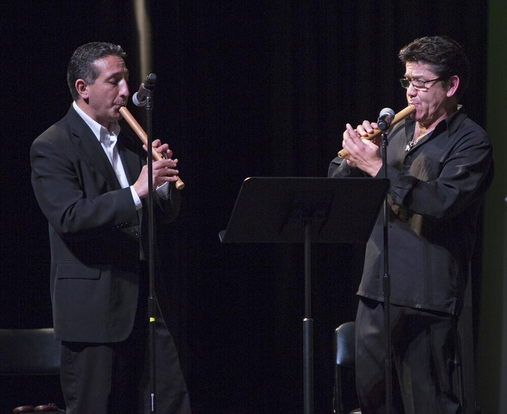 Gonzalo Cortes, flute/quena Roberto Clavijo, quena/charango/cajon (Chile)