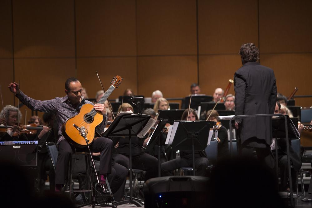 Daniel Salazar with orchestra