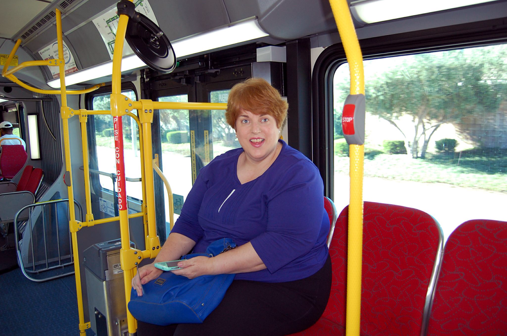 picture of Connie on the sbX bus