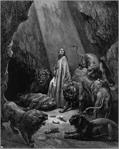 Daniel in the Den of Lions by Gustave Doré