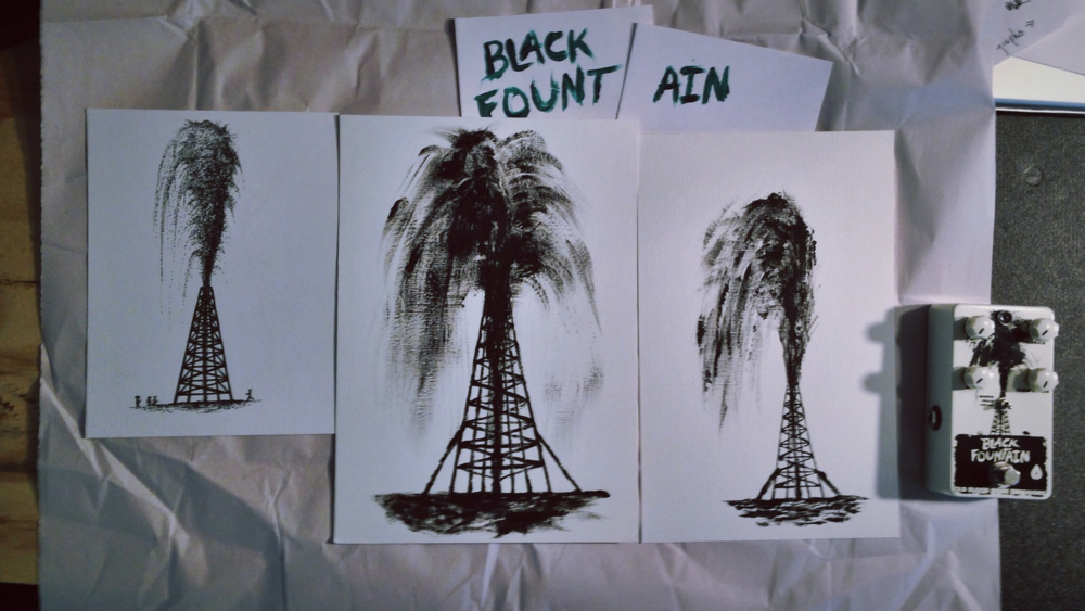 sam's original pieces he used to composite the black fountain artwork.