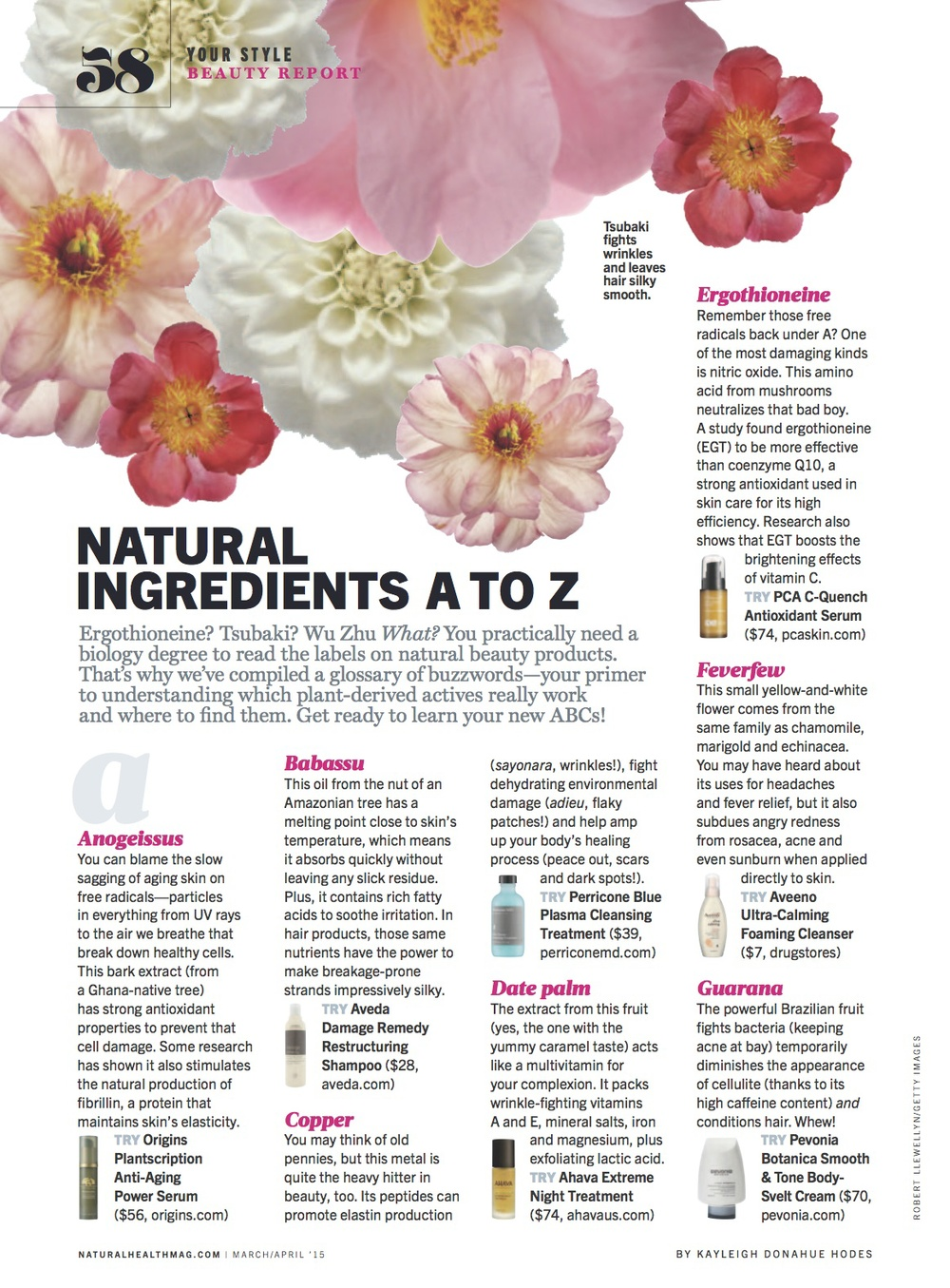 Natural Health - March/April 2015 — Kayleigh Donahue Hodes