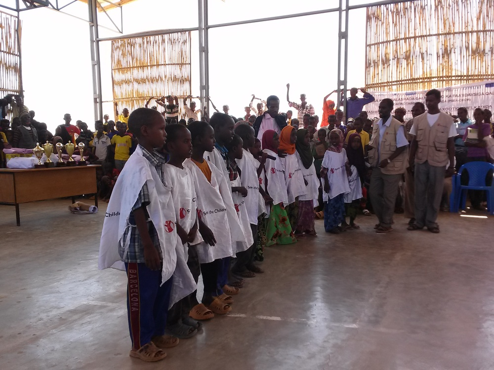SAVE THE CHILDREN'S CHOIR IN DOLO REFUGEE CAMP