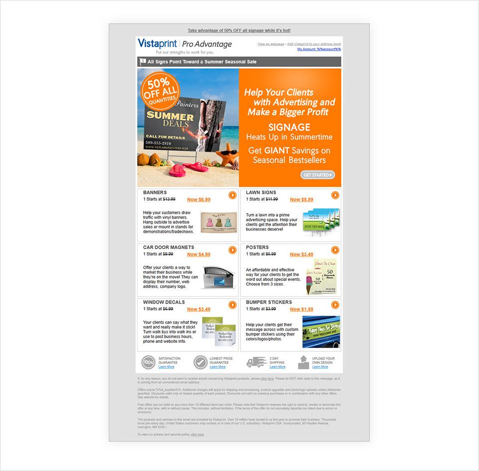 Steve Rand Vistaprint Emails Banners - Vistaprint banner template