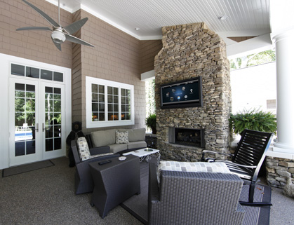 Outdoor Speakers And OUtdoor TV