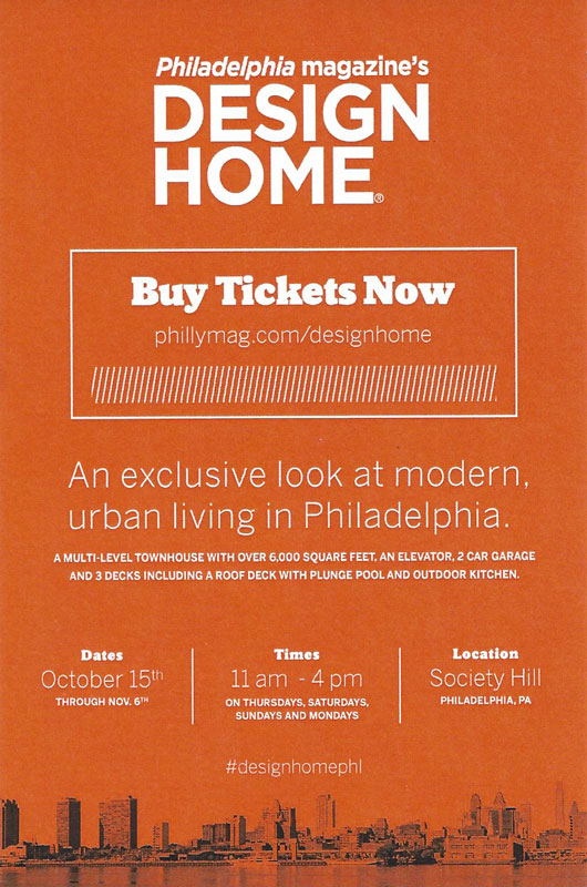 Phoenix A/V Specialists was chosen to show off our work in this year's Philadelphia Magazine Design Home. It will only be open for a few short weeks, so don't miss it!  More to follow.....