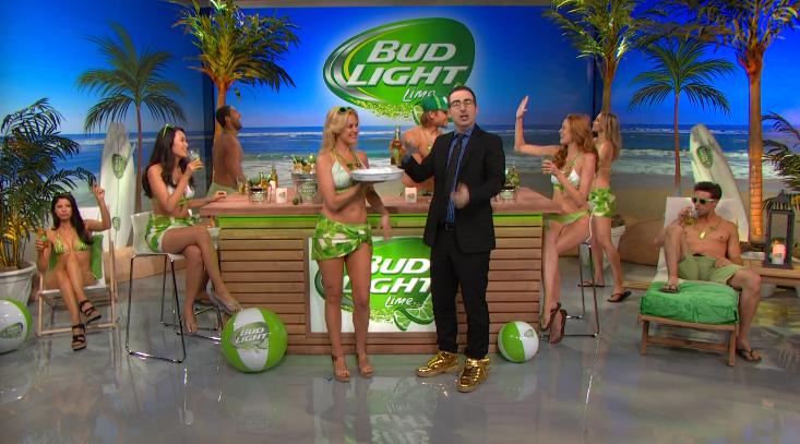 Here is John, a man of his word, conquering his adversary 'Bud Light Lime' in style.