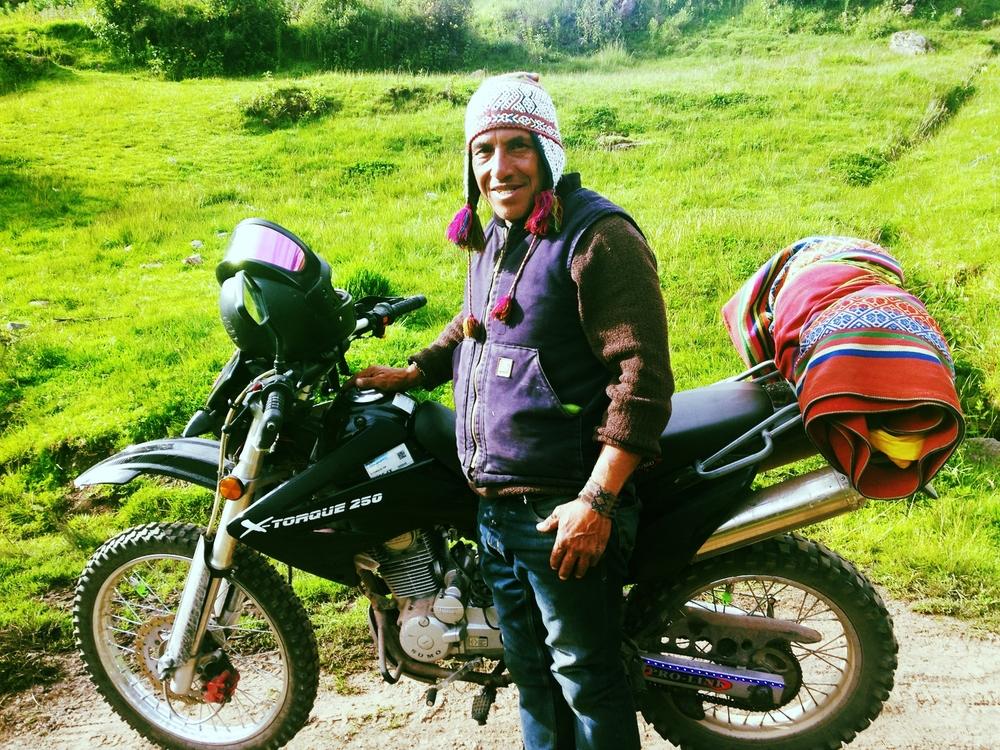 My hero, Freddy the motorbiking shaman.