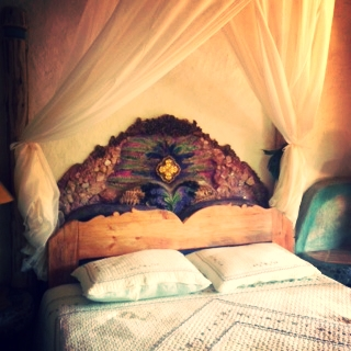One of the beautiful headboards, designed by Meredith