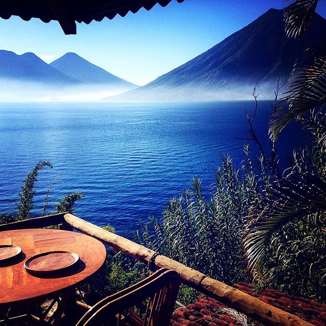 This morning's view - can't wait to have breakfast on this little balcony for the next month :) incredible #love #LakeAititlan #guatemala #sanmarcos #wanderwomenclub #wanderwomen #wander #wanderer #wanderlust #wandering #travel #traveller #travelblog #travelgram #travellife #travelling  #travelpics #travelporn #travelphoto  #travelblogger #traveltheworld #backpackerlife #explore