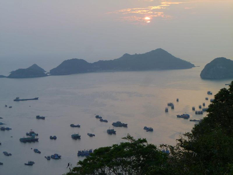 The views from the top of Catba island