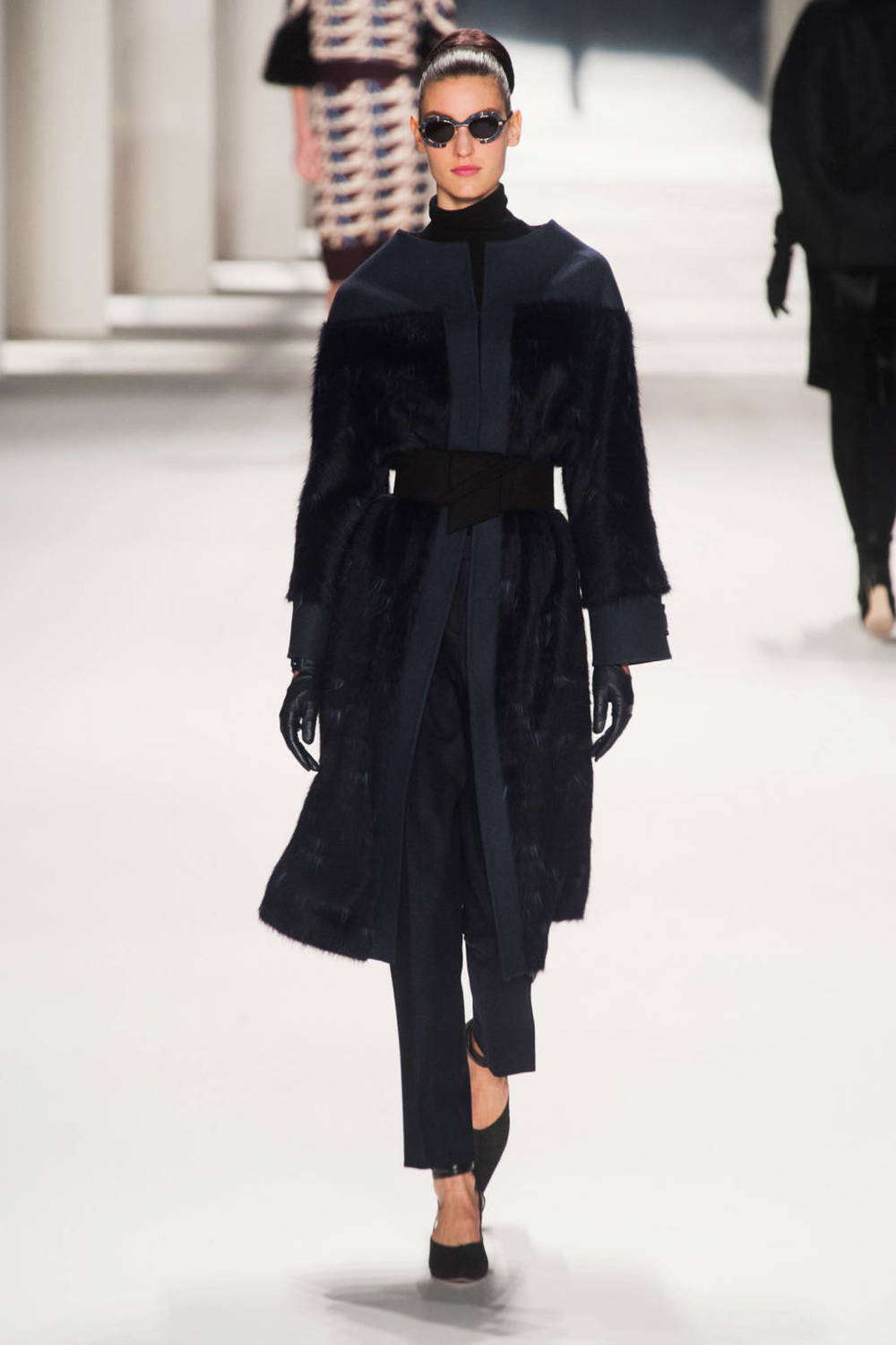 Carolina Herrera (robe coat, fur accents)