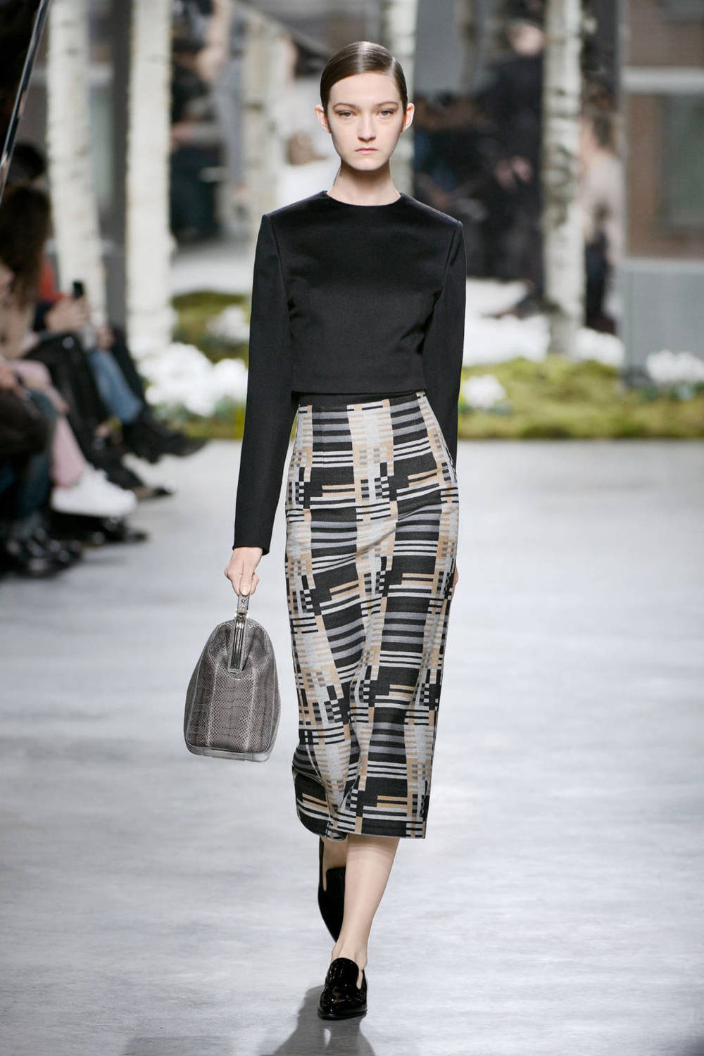 Hugo Boss (crop top with midi skirt)