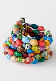 Beaded Statement Bracelet.  Made in Uganda.