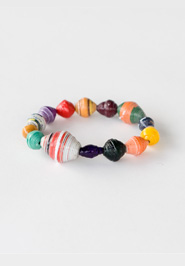 Funky Paper Bead Bracelet.  Made in Uganda.