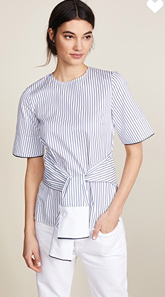 Love the waist tie detail on this Victoria Beckham top