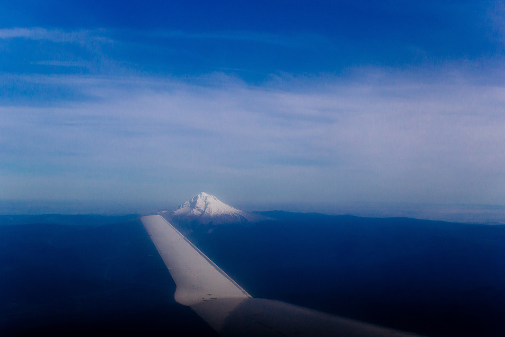 Flying over Mt Hood