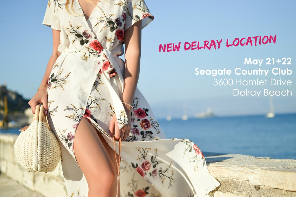 THE SEAGATE COUNTRY CLUB | 3600 HAMLET DRIVE, DELRAY BEACH   MAY 21+22, 2018 | MONDAY + TUESDAY | 10:00AM-5:00PM    - Self-Parking is Available at The Seagate Country Club Free of Charge -  All collections and showrooms will be presenting in an open booth format, under one roof