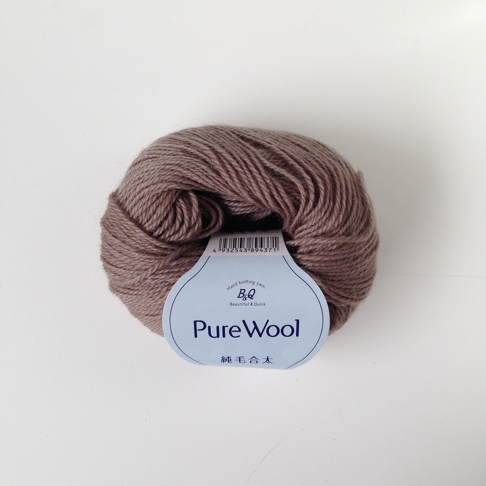 Also bought in town, this ball has the same yarn content as the yellow Pure Wool but in a heavier yarn weight. I plan on using this to knit a sweater for my husband.