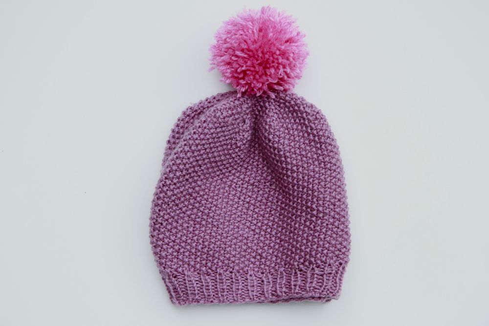 Free Knitting Pattern: Seed Slouchie and Pom-Pom Tutorial — Aroha Knits