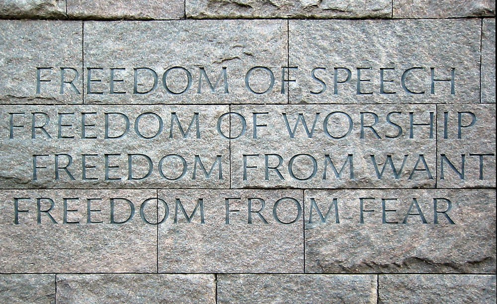 """FDR Memorial wall"". Licensed under CC BY-SA 3.0 via Wikimedia Commons"