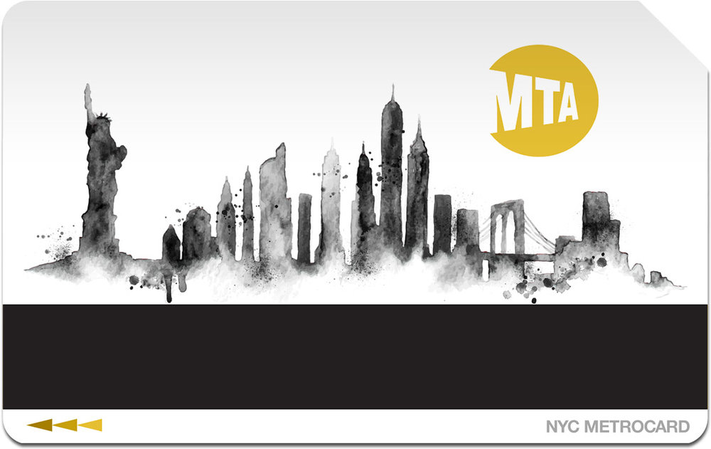 #06 - This impressionistic concept both reverent and a return to conservative use of ink and paper for something that sees millions of prints each year. The MTA logo is colored and positioned as a rising sun, adding to a bright, optimistic motif.