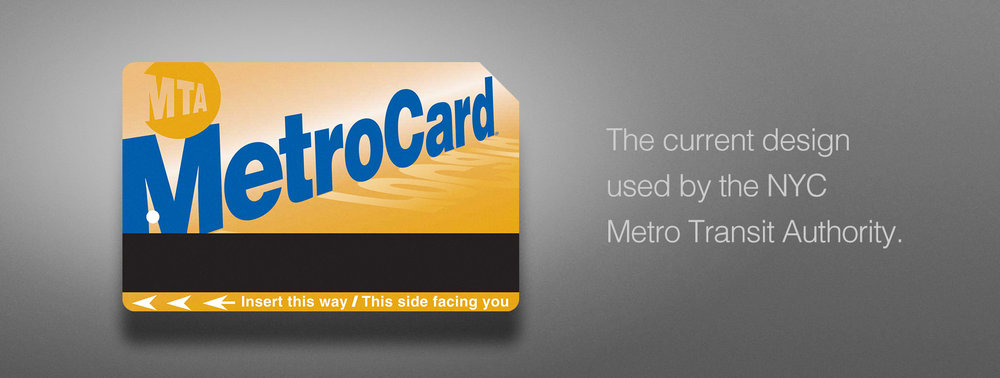 The Current metro card design in use throughout NYC