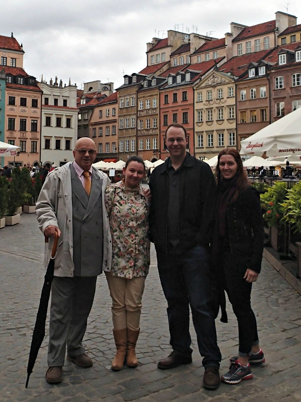 Standing in front of the Old Town (a UNESCO heritage site).  From left to right: Stefan, Agata (a descendant of my great grandmother's sister), my brother, Doug and his wife, Karyn.
