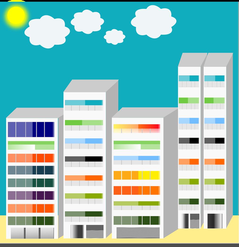 Sunny apt buildings