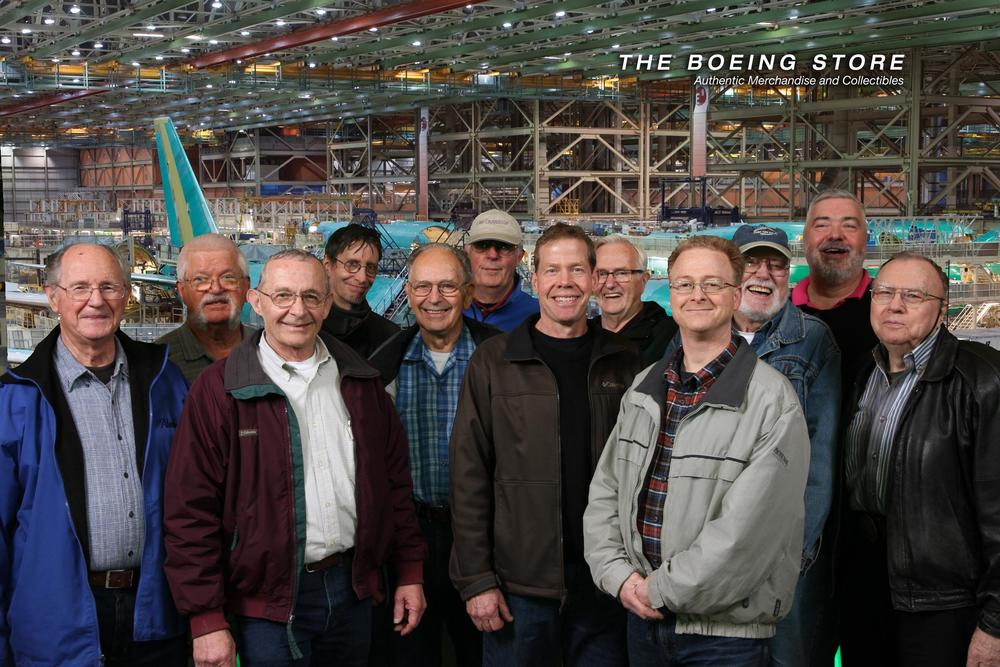 A group of men visited Boeing in Everett