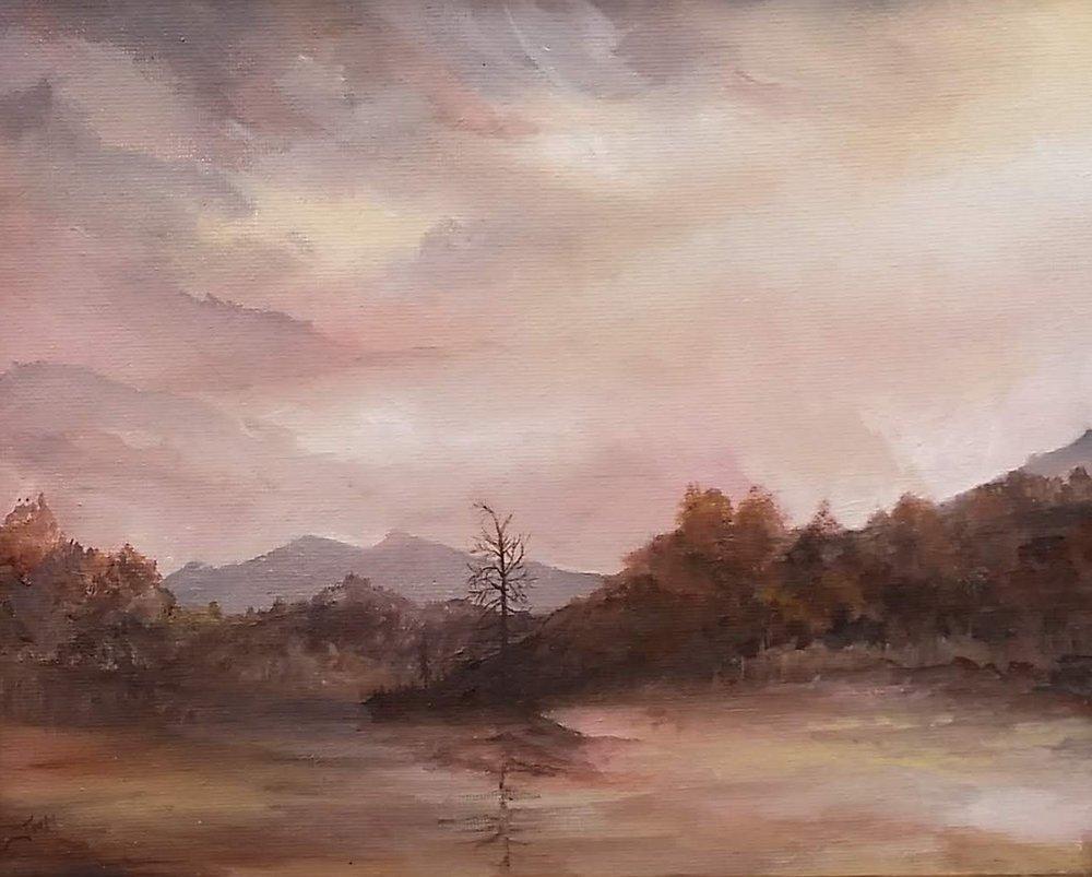 "Ticonderoga Ferry Ride   2018   SOLD  Oil on canvas, 10"" x 8"" (11"" x 9"" framed)"