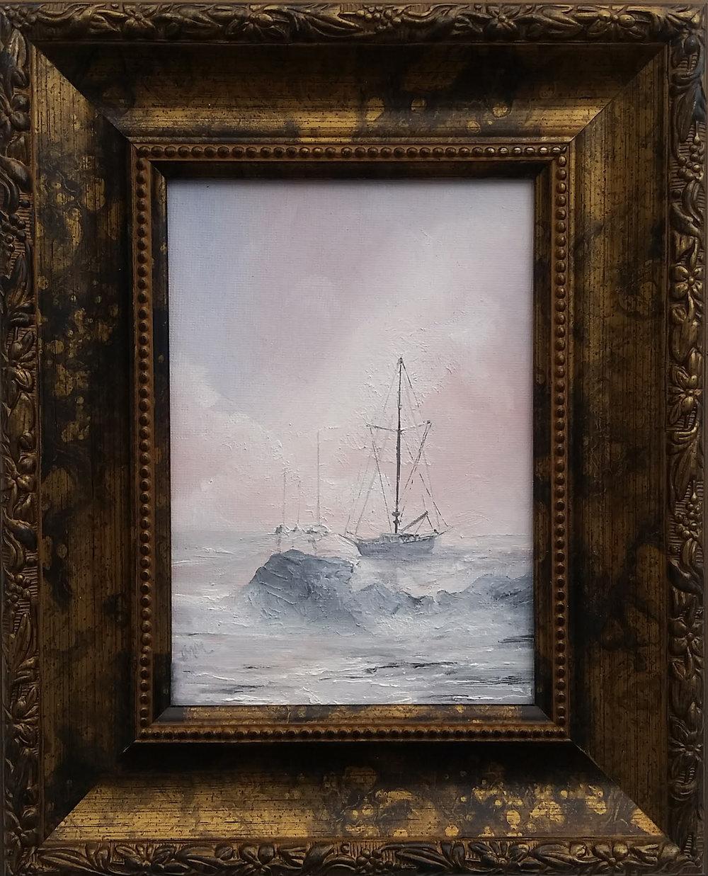 "Nantucket Harbor - Oil on canvas | 5""x 7"" (8"" x 10"" framed) | 2018SOLD"