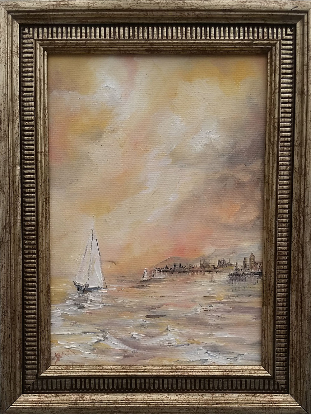 """Port Philip Bay - Oil on canvas 
