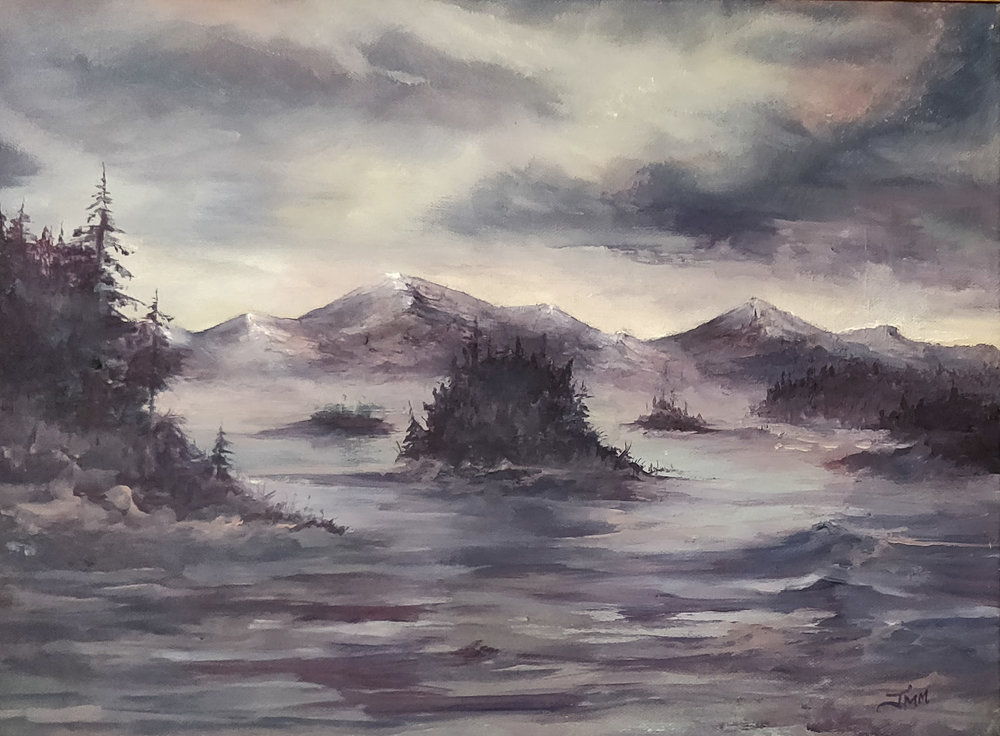 "Tupper Lake | 2018 | $480  Oil on canvas, 12"" x 16"""