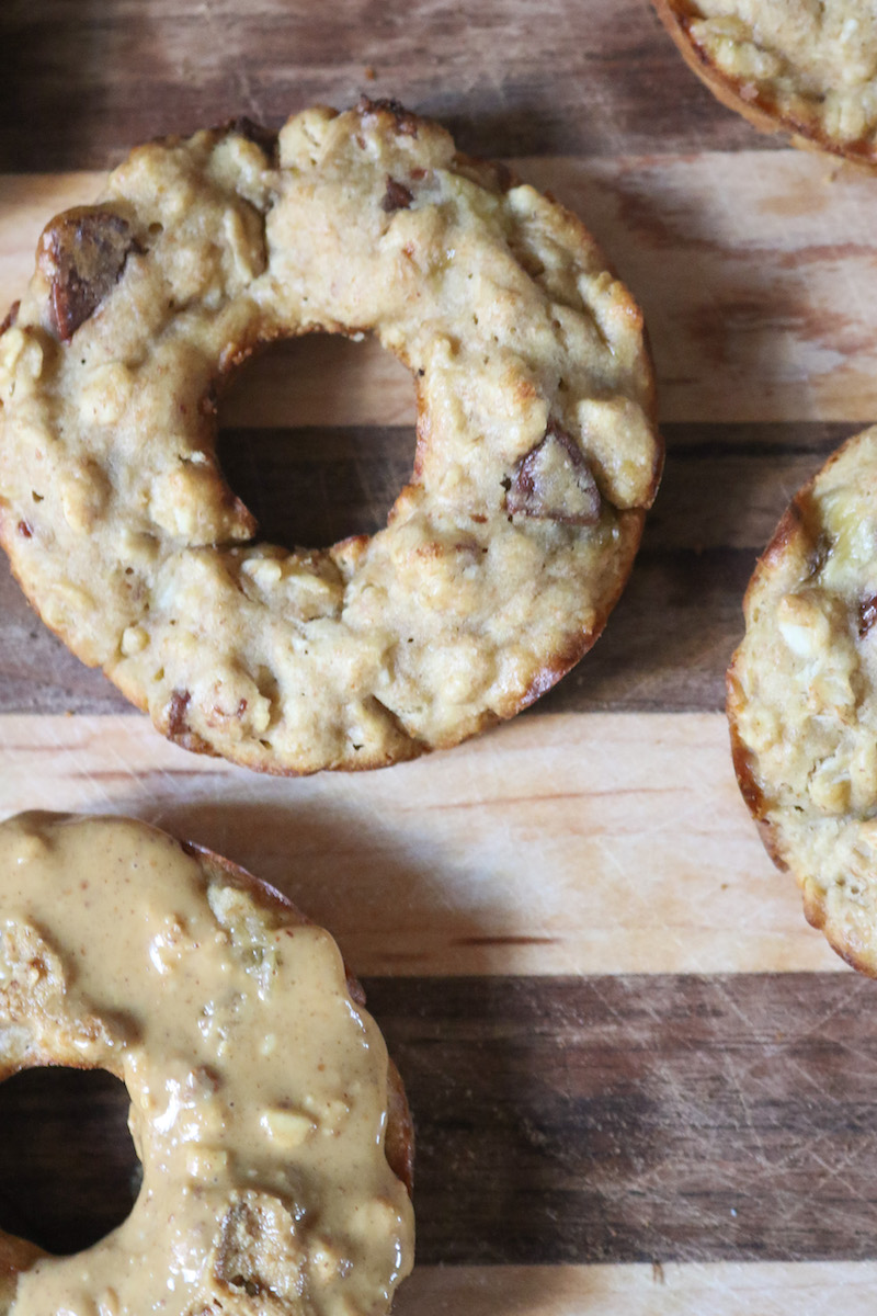 Banana Bread Chocolate Chip Doughnuts