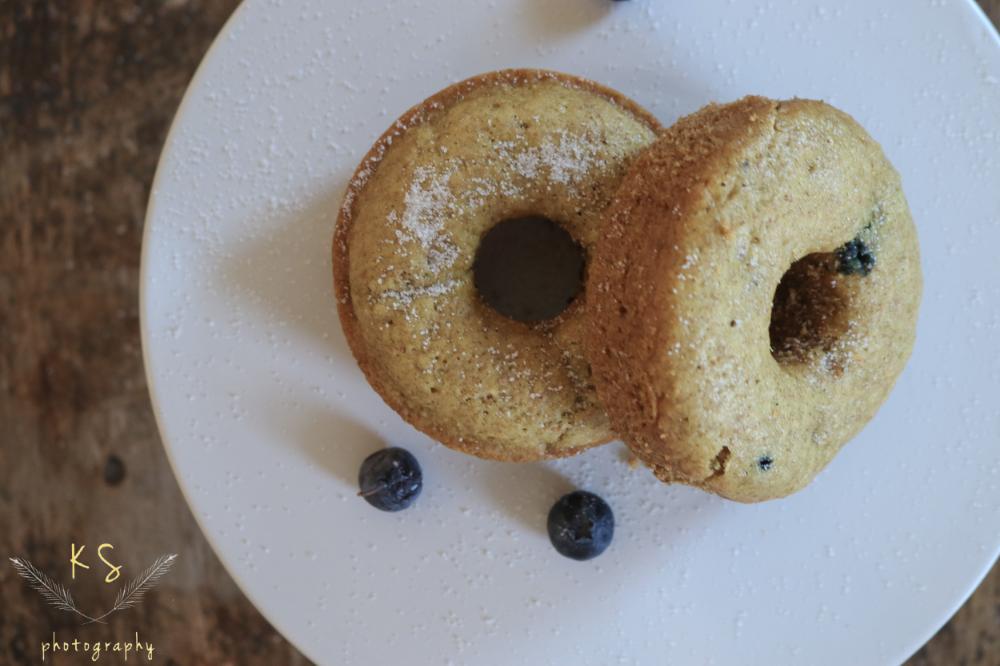 Baked Blueberry, Lemon & Coconut Milk Donuts