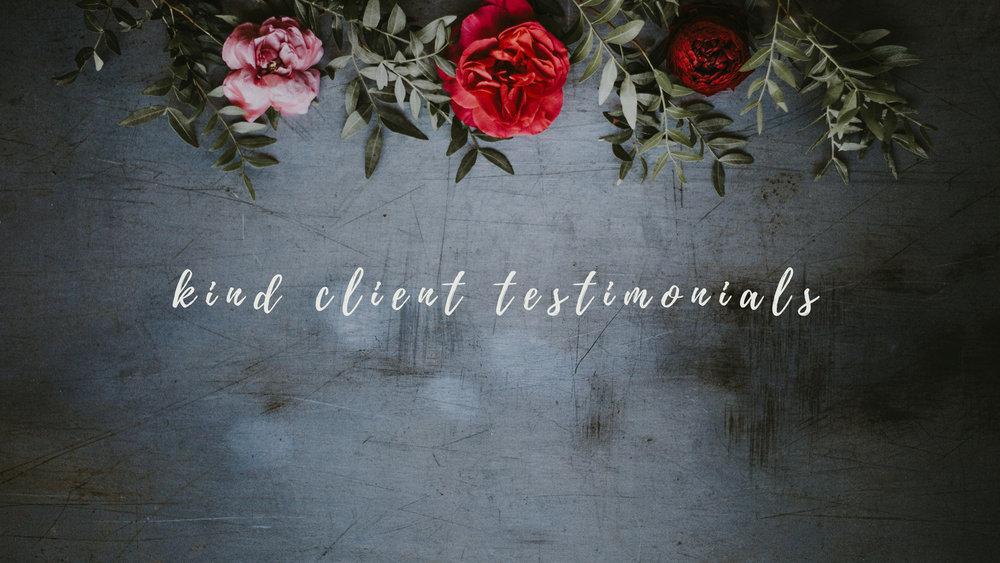 kind client testimonials