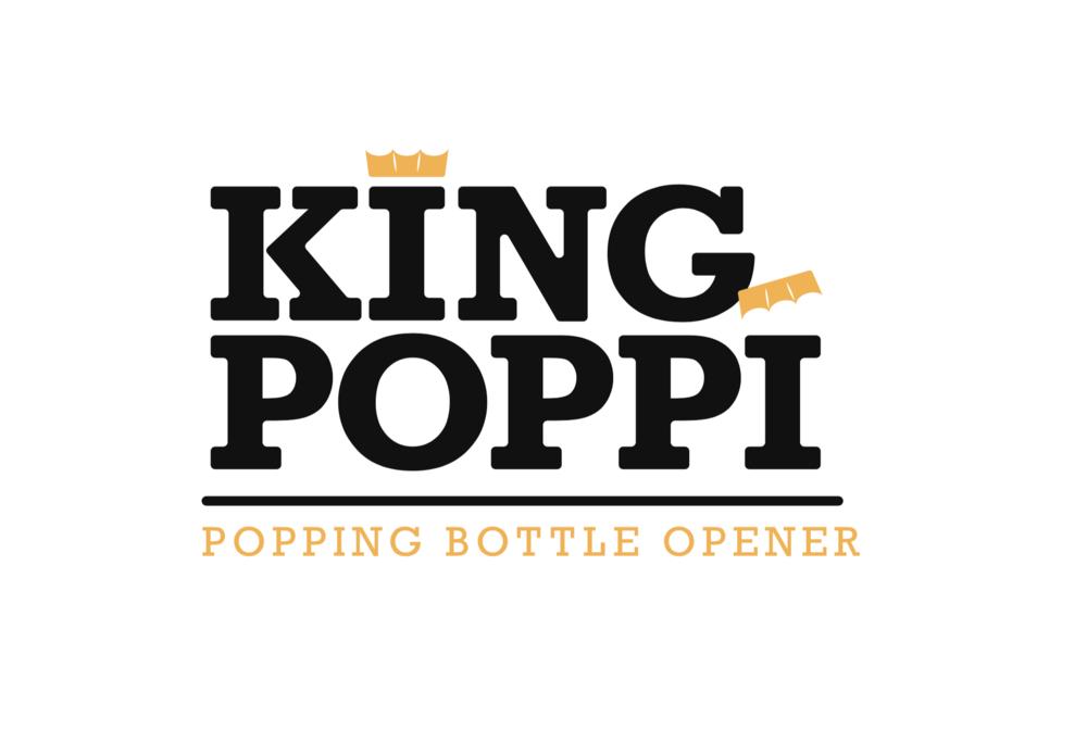 Bottle Opener logo design for King Poppi