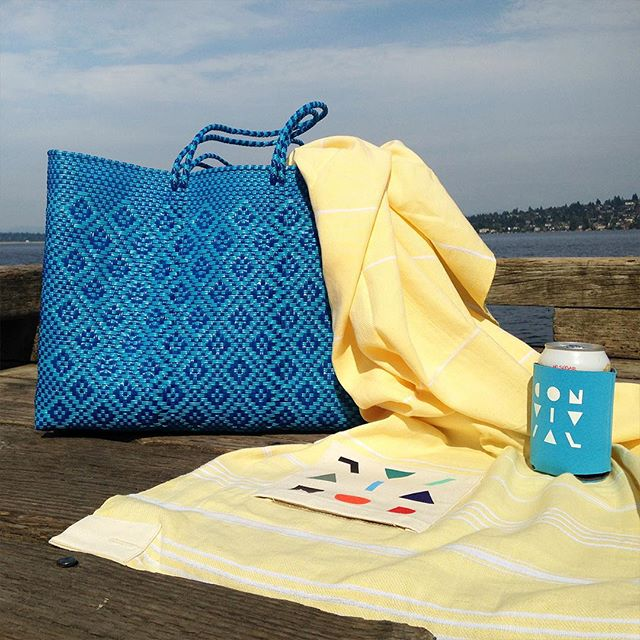 We're stoked to team up with the kickass ladies at @activyst for a summer giveaway. Activyst helps girls play around the world and this handmade Oaxacan beach tote funds girls' soccer in Mexico. To enter to win this rad beach tote and Convivial towel:  1. Make sure you're following @activyst and @weareconvivial. 2. Tag your two favorite beach buddies. 3. That's it! If you're selected, you get the tote and blanket and your friends get a Convivial coozy and Activyst Play tank.
