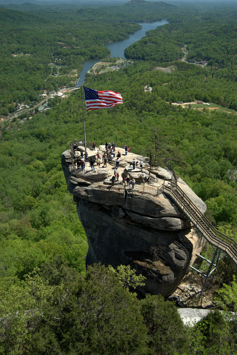 Let's go to the top of Chimney Rock!