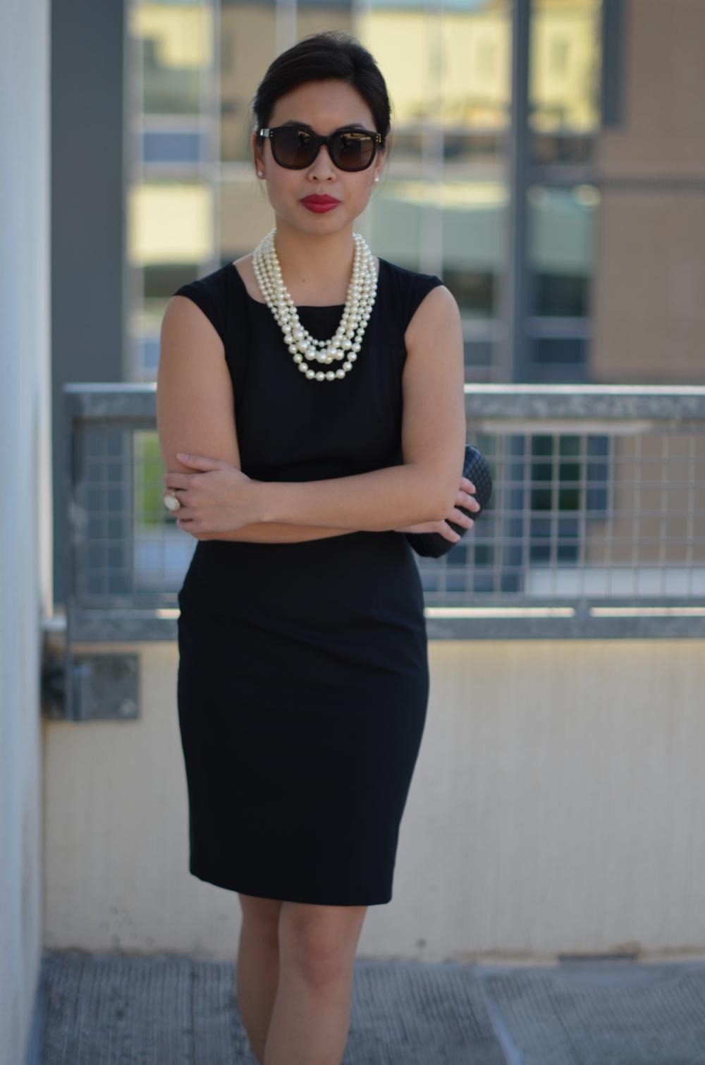 The Little Black Dress Amp Pearls Janna Doan