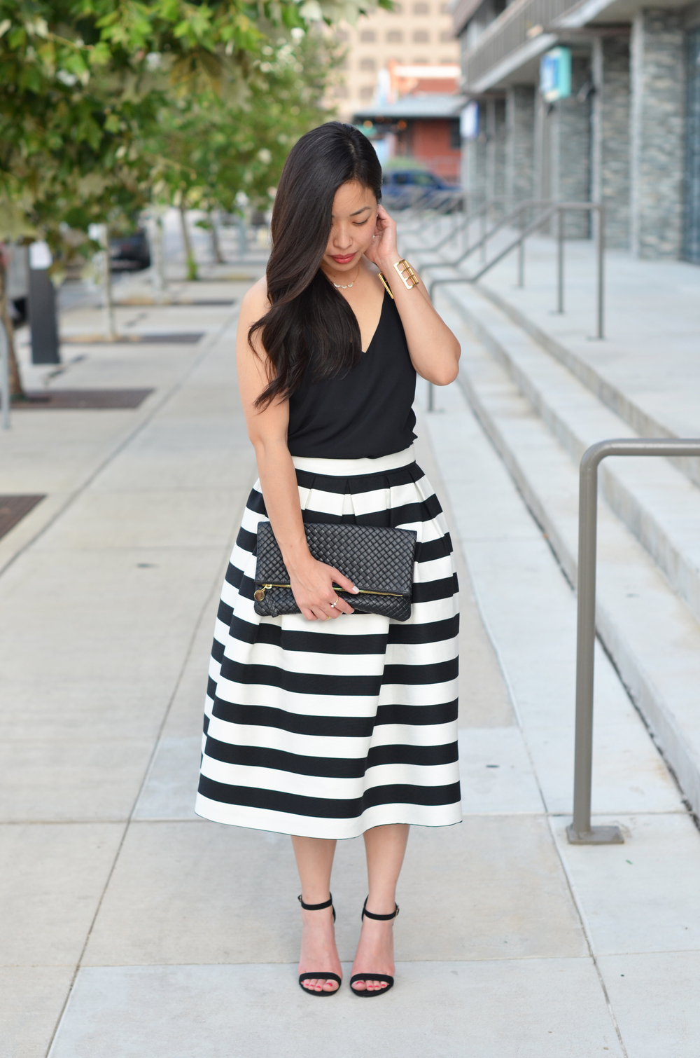 the striped midi skirt -- jannadoan.com