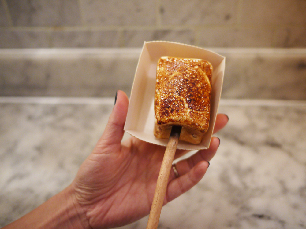 frozen s'more!!!! Dominique Ansel does not joke around when it comes to a dessert on a stick.