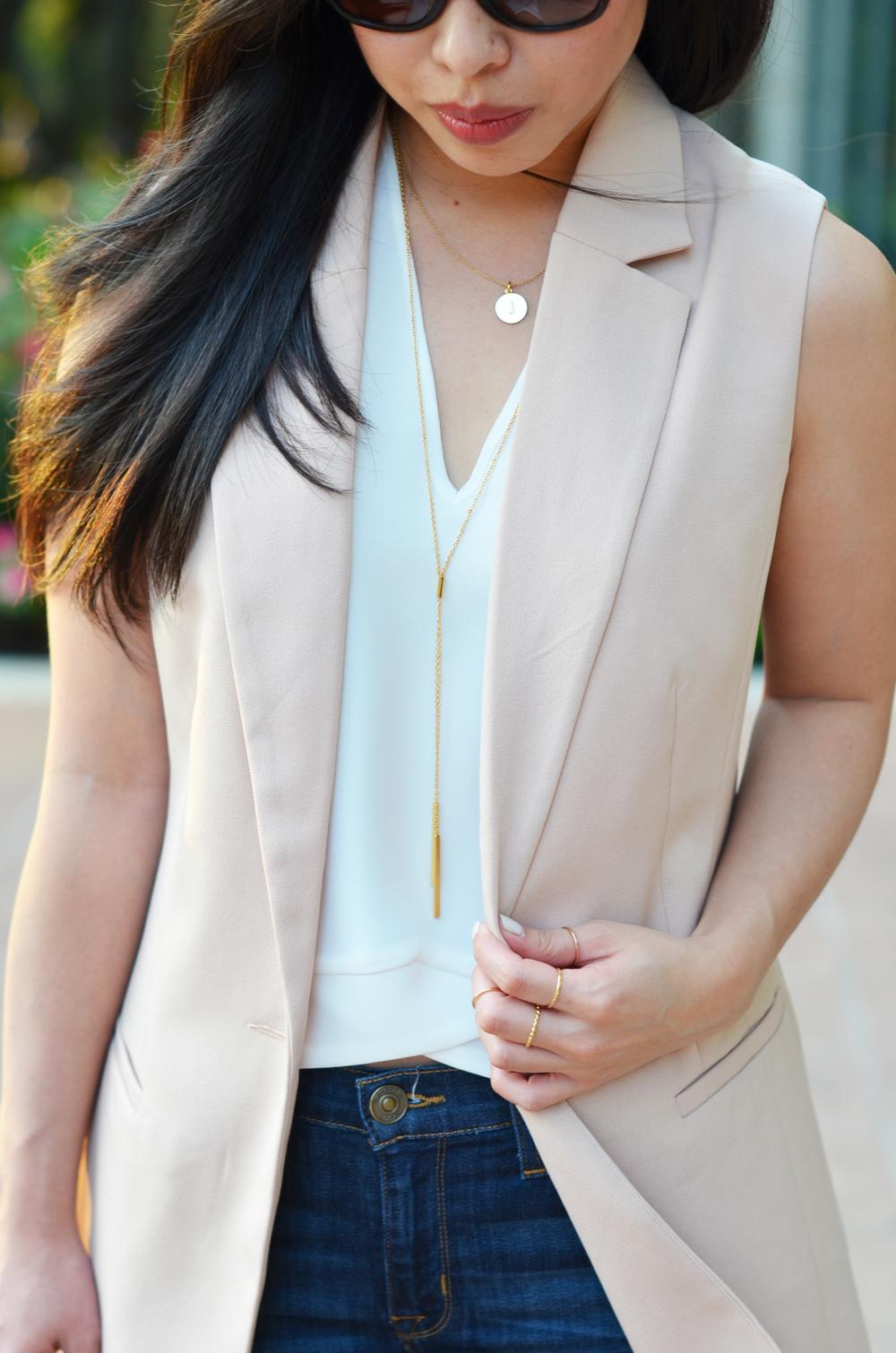 the sleeveless blazer & leopard print heels -- jannadoan.com