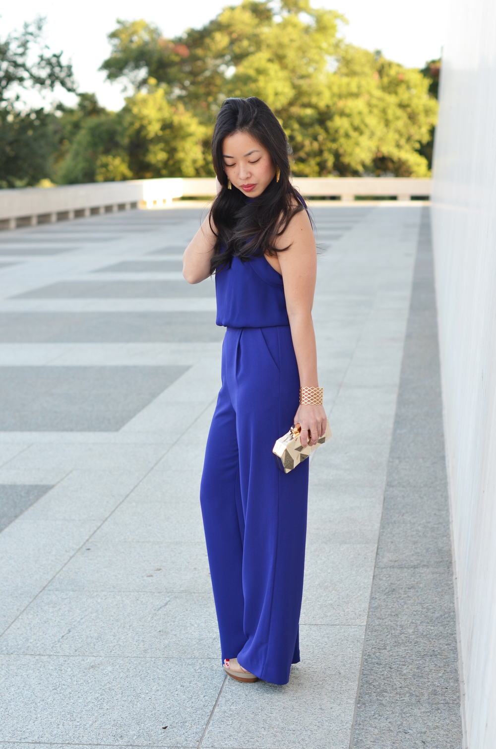 the indigo wide leg jumpsuit -- jannadoan.com