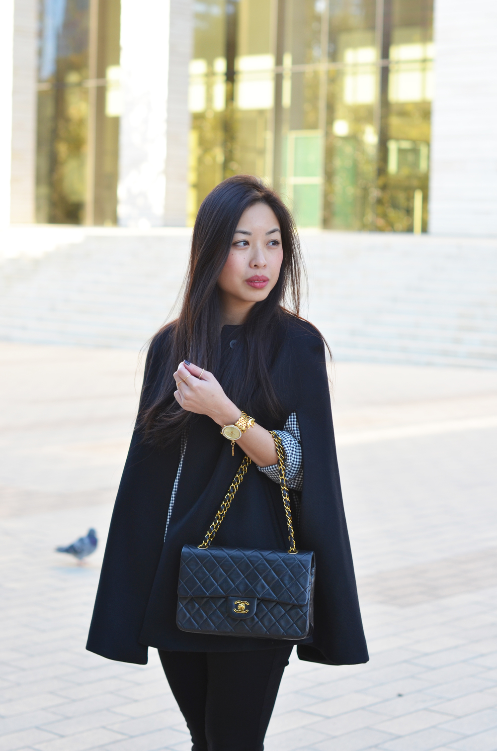 the black cape coat & gingham twill -- jannadoan.com