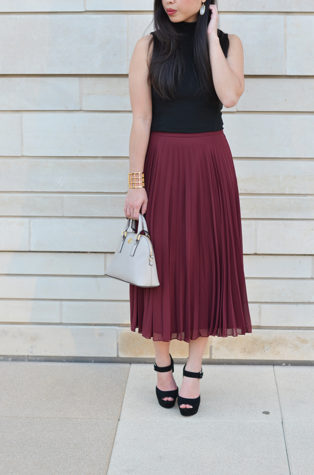 9f3da33548 Burgundy Pleated Skirt - Redskirtz