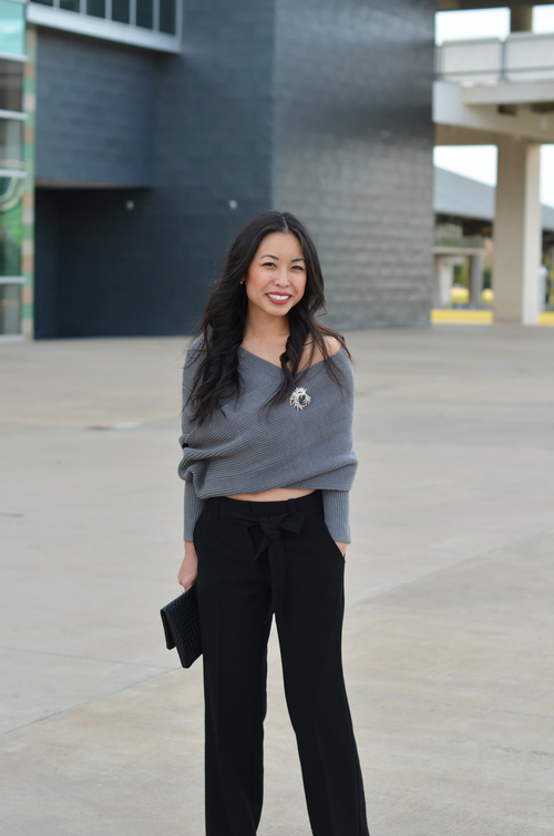 the off shoulder sweater wrap — janna doan