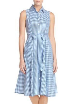 Nordstrom Chetta B gingham dress